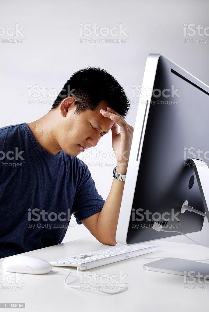 Stress at work royalty-free stock photo