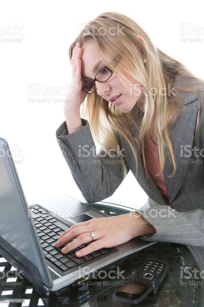 Stress At Work royalty-free stock photo