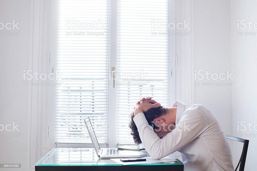 stress at work stock photo