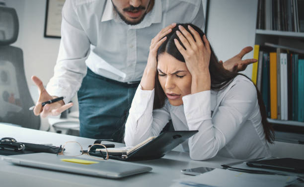 Stress at work. stock photo