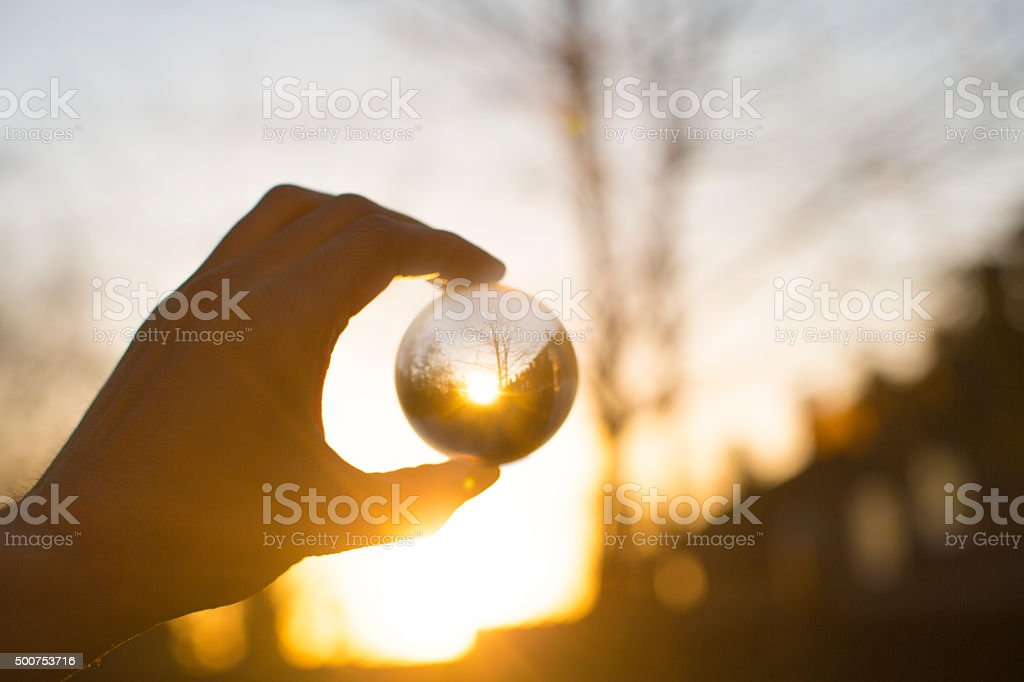 stress ball and sunlight stock photo