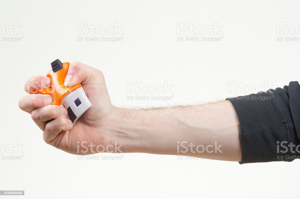 Stress ball house stock photo