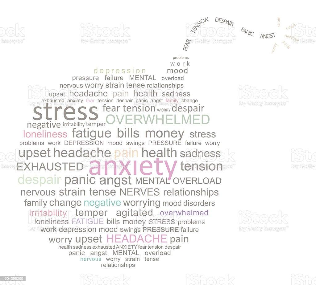 Stress Bomb Word Cloud stock photo