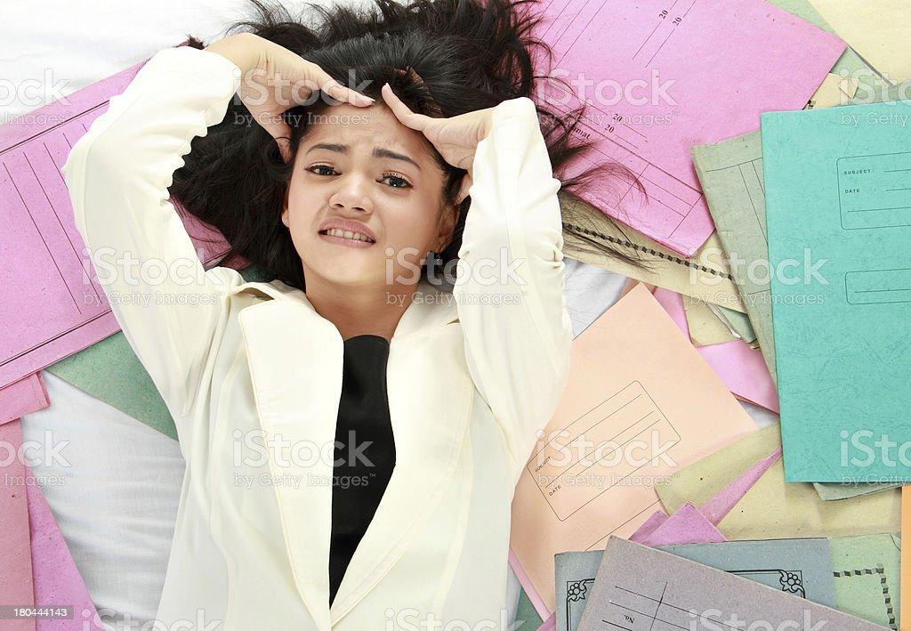 stress business woman royalty-free stock photo