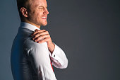 istock stress caucasian businessman officer feel bad with work hard and office syndrome hand touch painful body part 1159054949