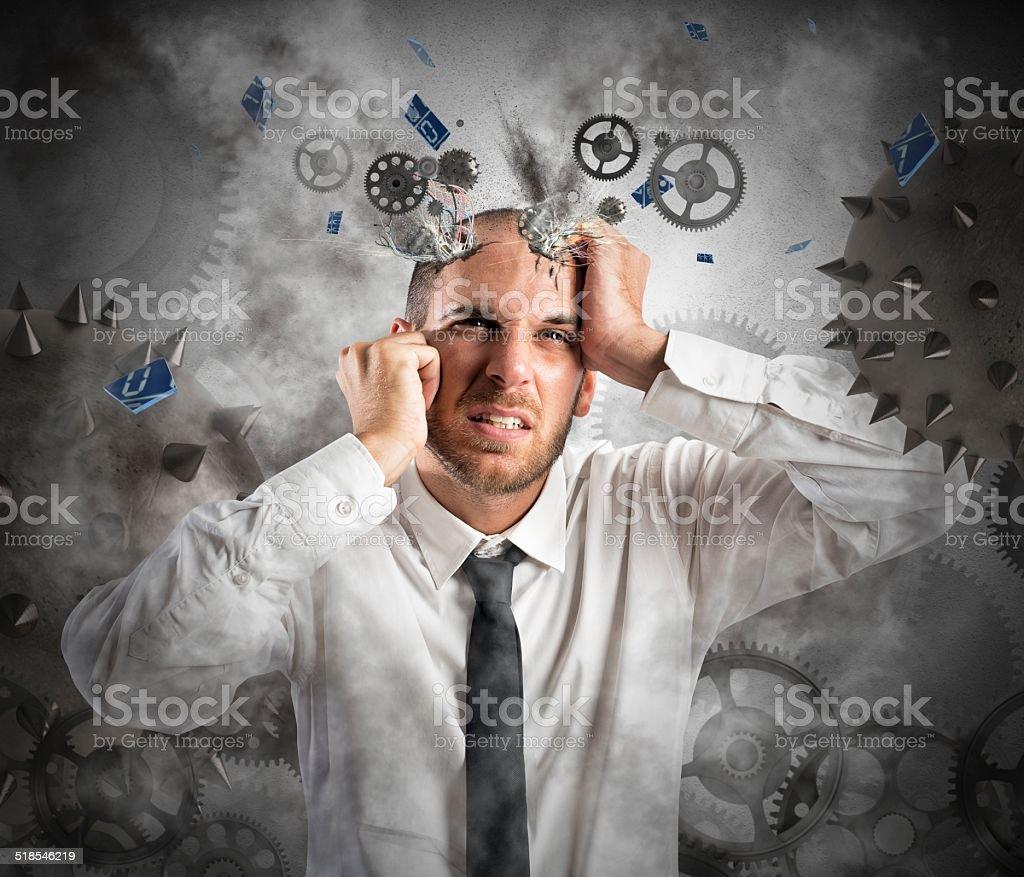Stress explosion stock photo