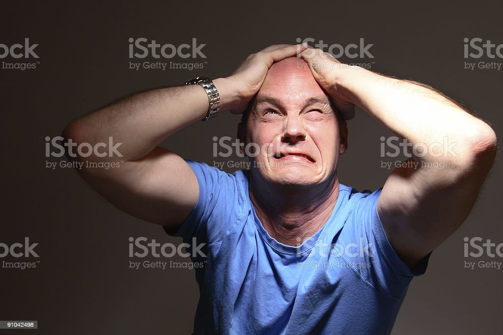 Stress Headache royalty-free stock photo