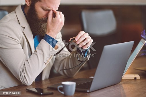 668329720 istock photo Stress in the office concept 1200514096