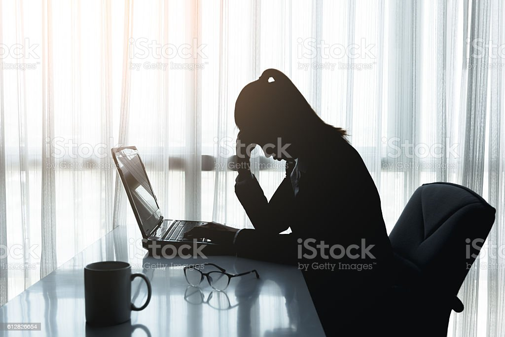 Stress in the office stock photo