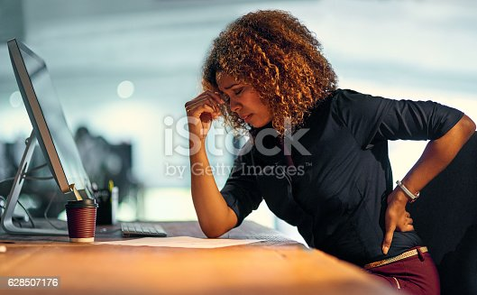 istock Stress is creeping up on her 628507176