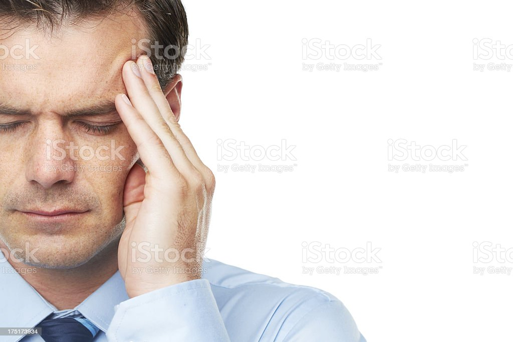 Stress is part of the job royalty-free stock photo