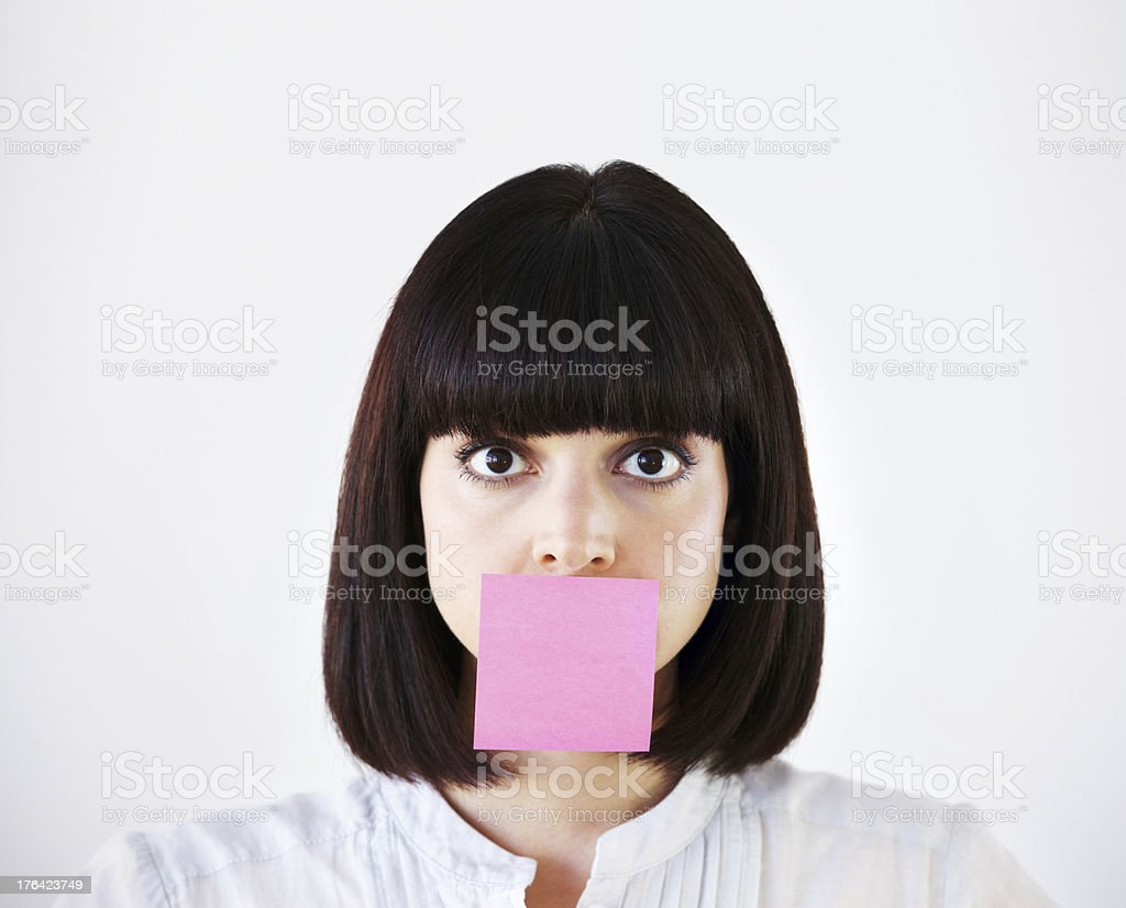 Stress is stifling her creative voice stock photo