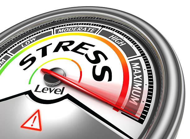stress indiquant un niveau conceptuel mètre - pression physique photos et images de collection
