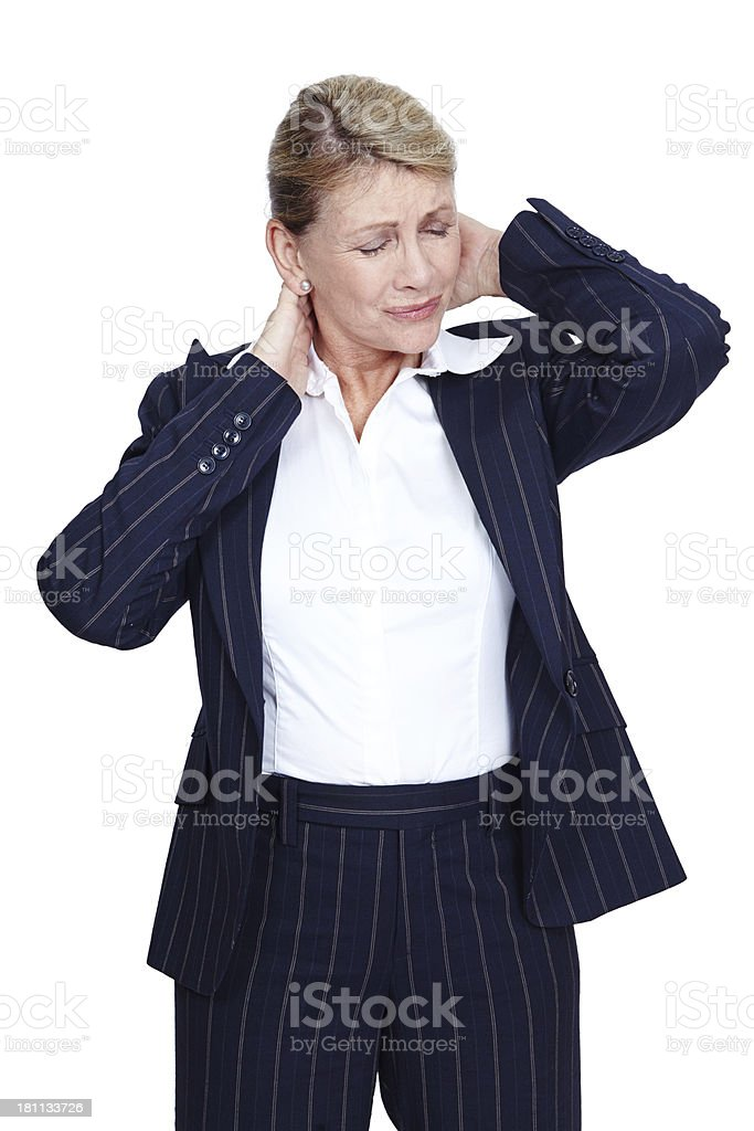 Stress manifesting in physical pain royalty-free stock photo