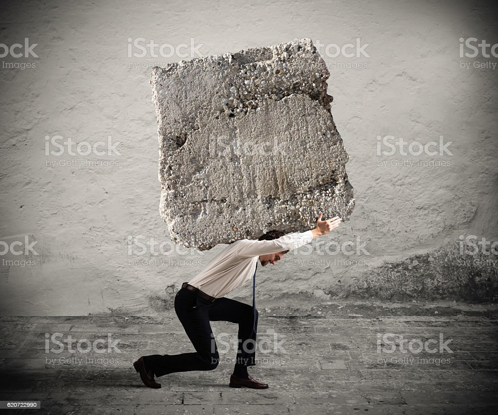 Stress of a businessman stock photo