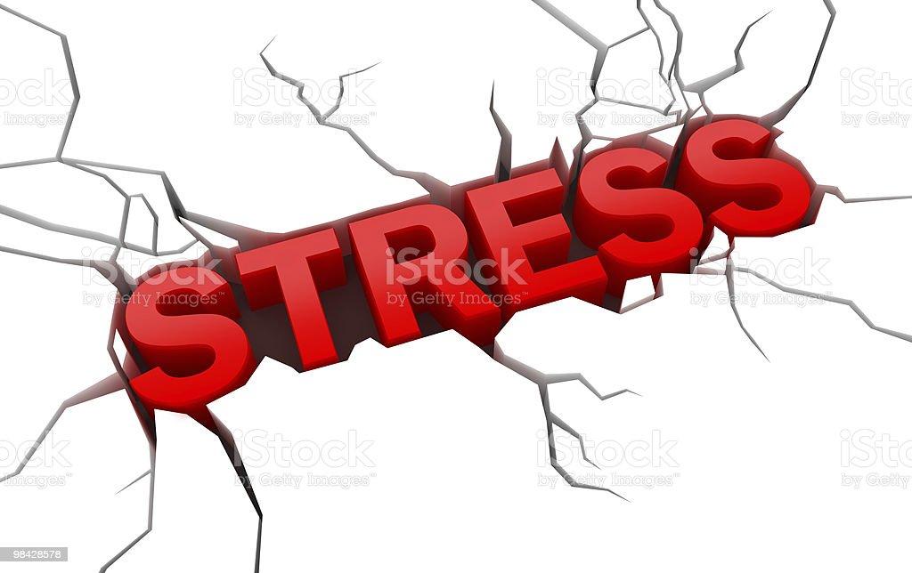 스트레스가 균열 표면화시킵니다 royalty-free 스톡 사진