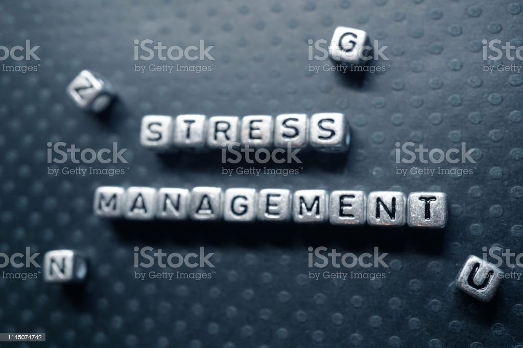 stress shot of block letters Business Stock Photo