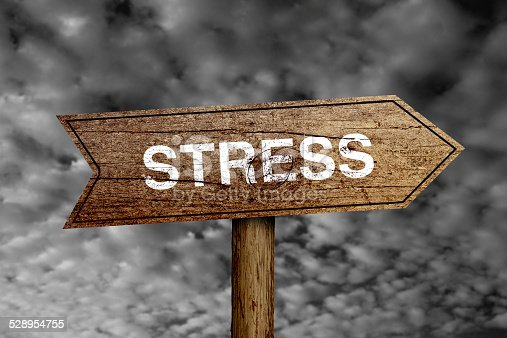istock Stress Road Sign 528954755