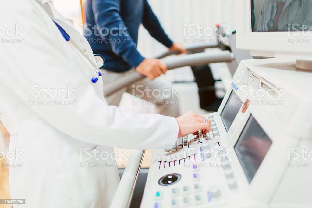 Stress test stock photo