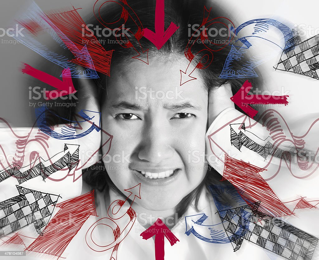 Stress. Woman stressed royalty-free stock photo