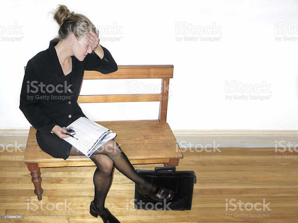 stressed and exhausted royalty-free stock photo
