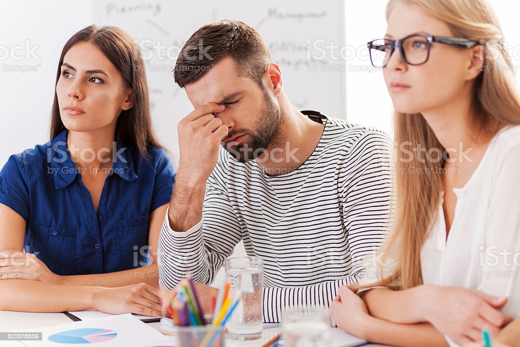 Stressed and tired. stock photo