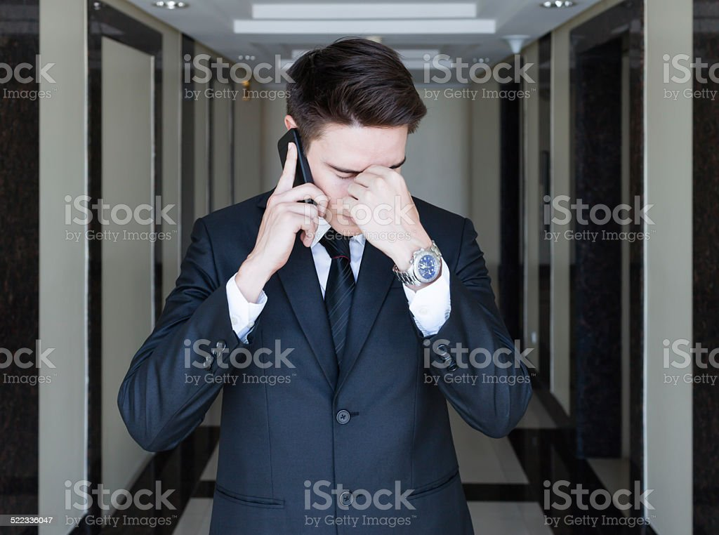 Stressed at work stock photo