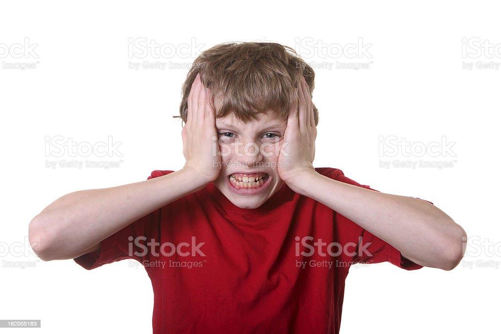 stressed boy royalty-free stock photo
