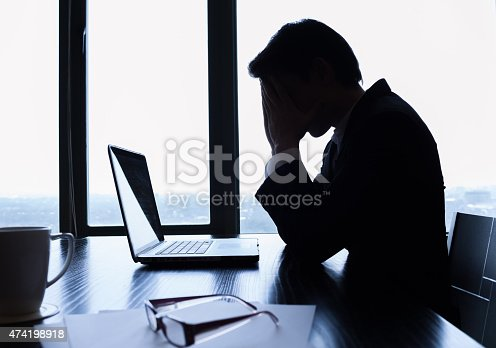 istock Stressed business man 474198918