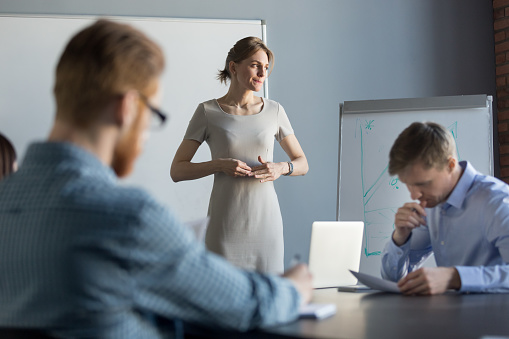 istock Stressed business woman feeling nervous thinking of problem at meeting 1061027904