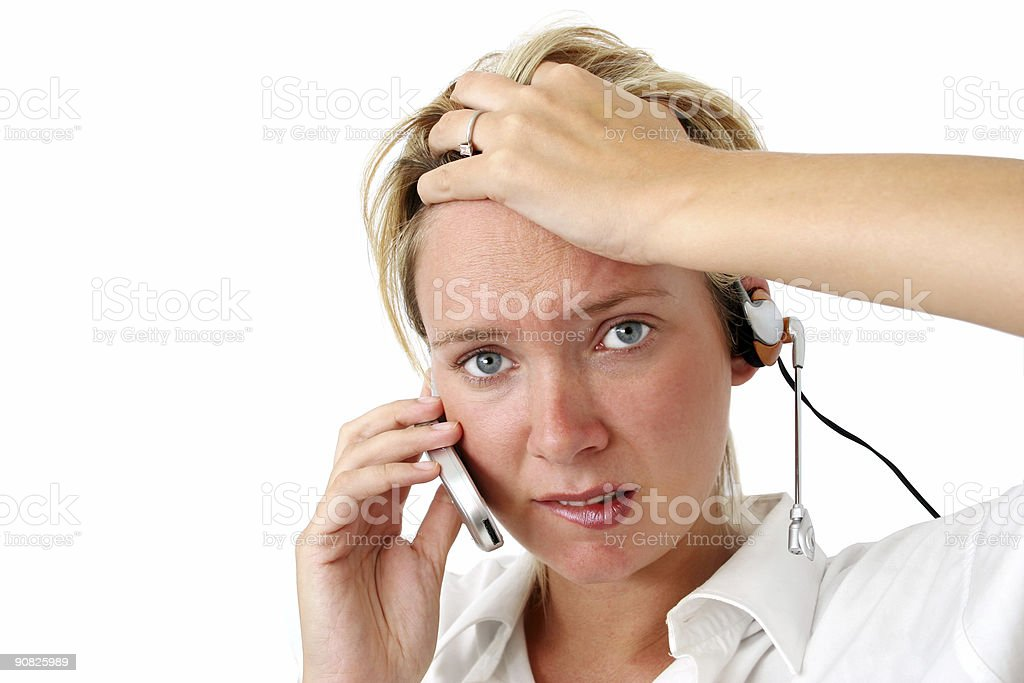 Stressed Business Woman royalty-free stock photo