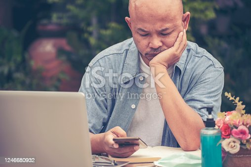 626916886 istock photo Stressed businessman Frustrated and upset in business pressure 1246680932