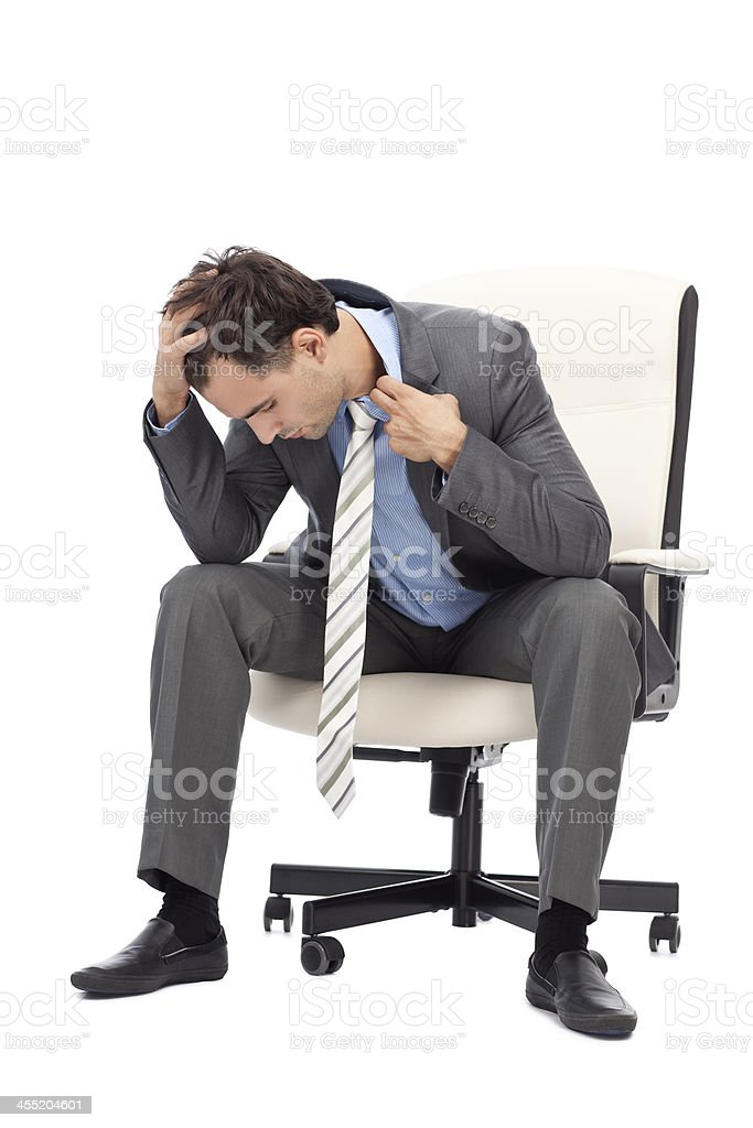 Stressed businessman. royalty-free stock photo