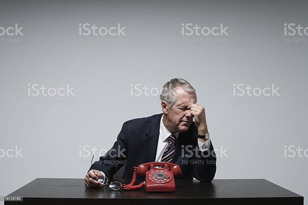 A stressed businessman 免版稅 stock photo