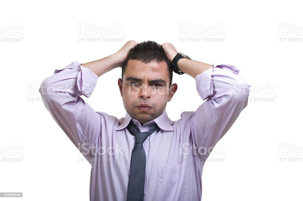 stressed businessman royalty-free stock photo