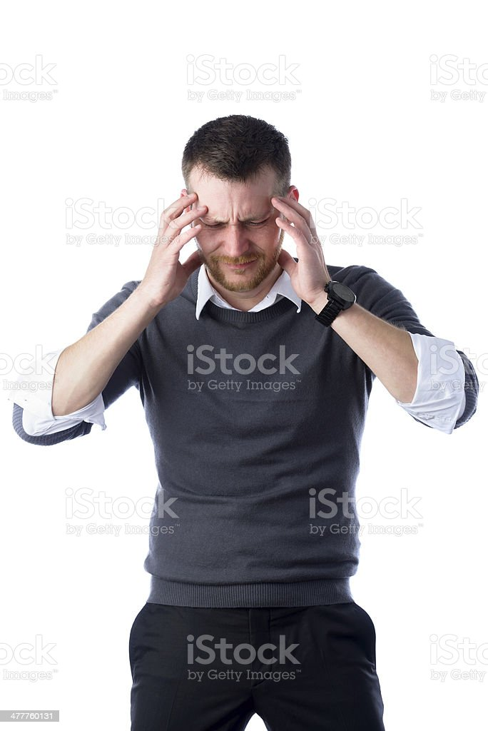 stressed businessman with headache royalty-free stock photo