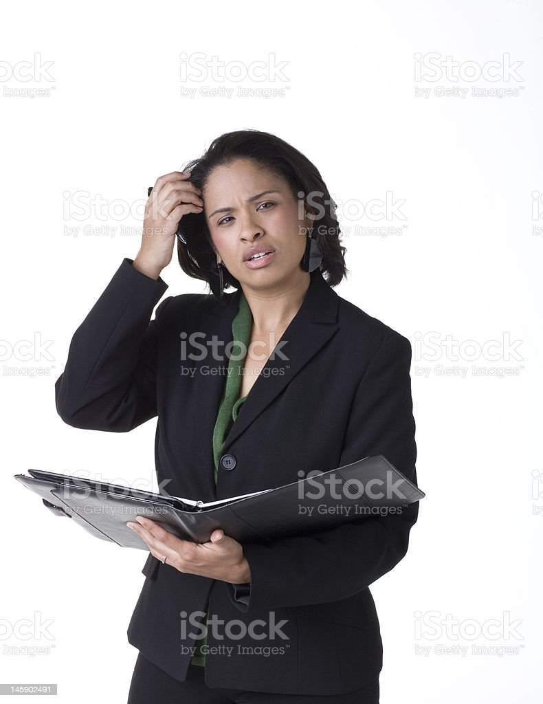 Stressed Businesswoman royalty-free stock photo