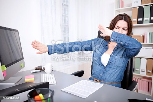 692461598 istock photo Stressed businesswoman reaching breaking point 509290378