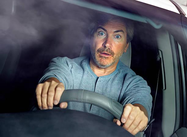 Stressed car driver. – Foto