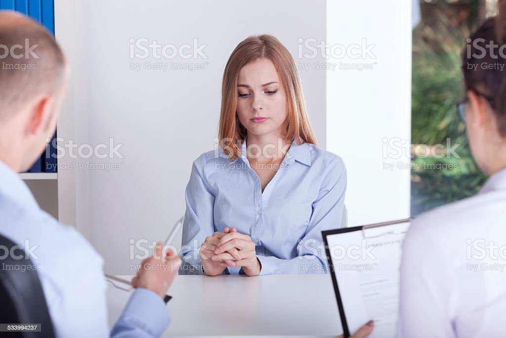Stressed girl stock photo
