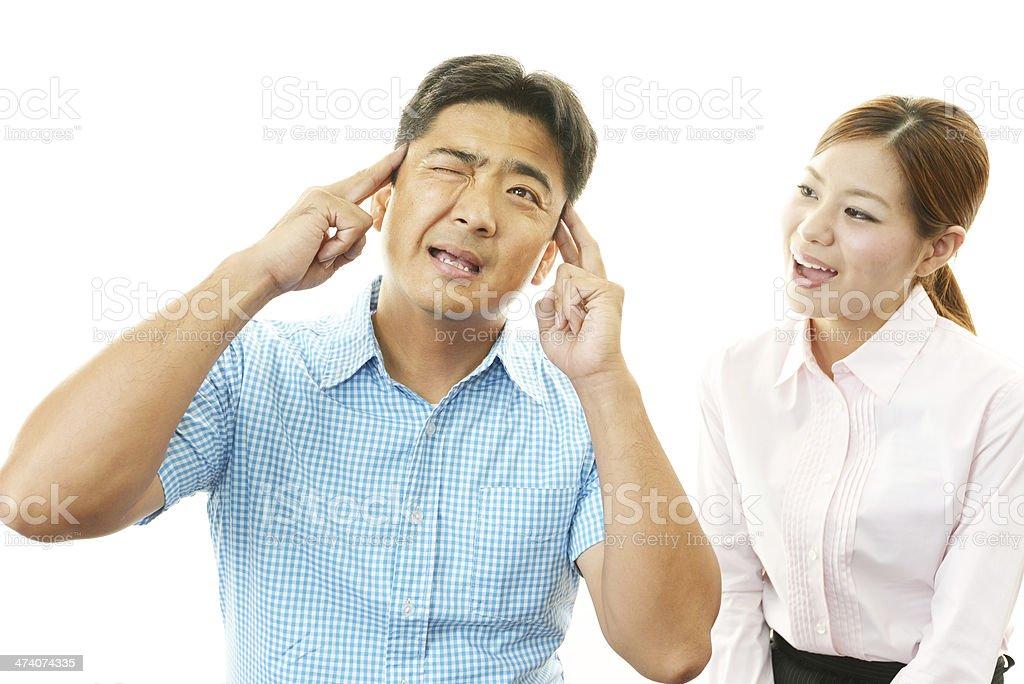 ストレスのたまった男性と女性 - カッコいいのロイヤリティフリーストックフォト