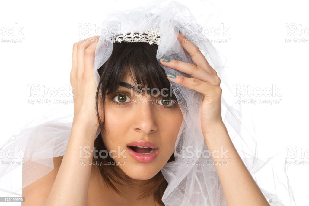 stressed out bride royalty-free stock photo