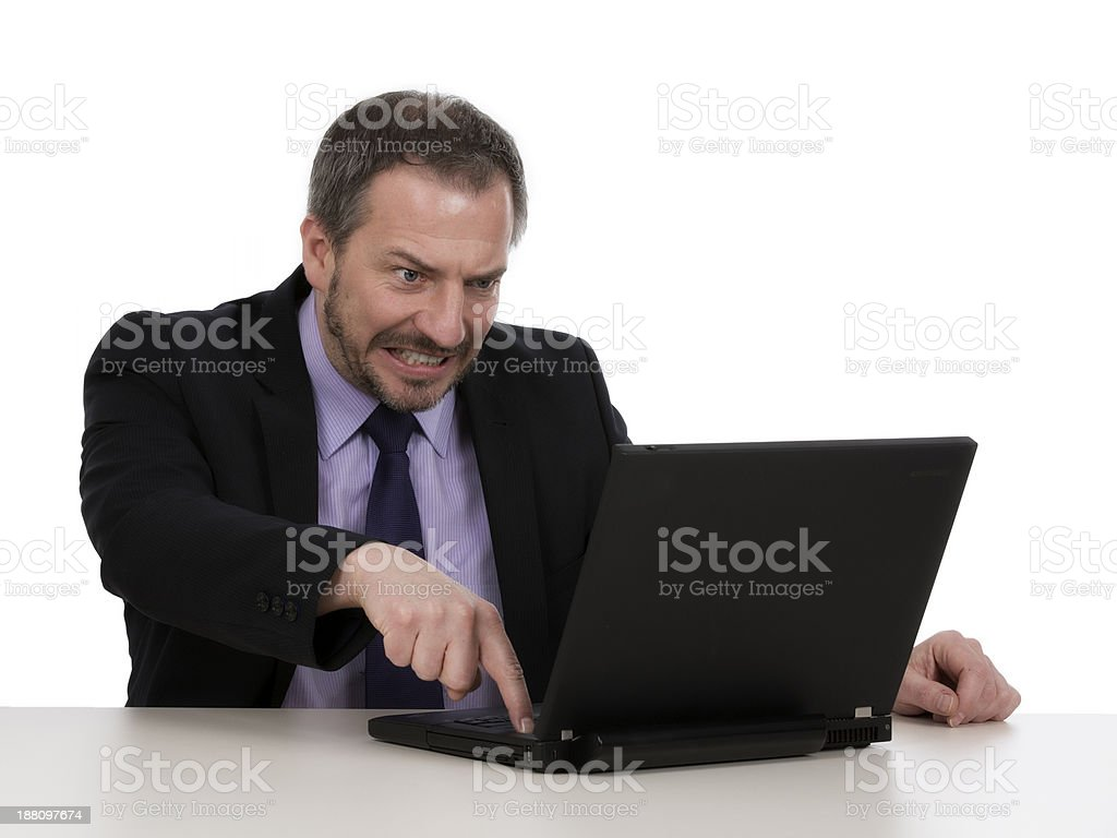 Stressed Out Businessman with notebook royalty-free stock photo