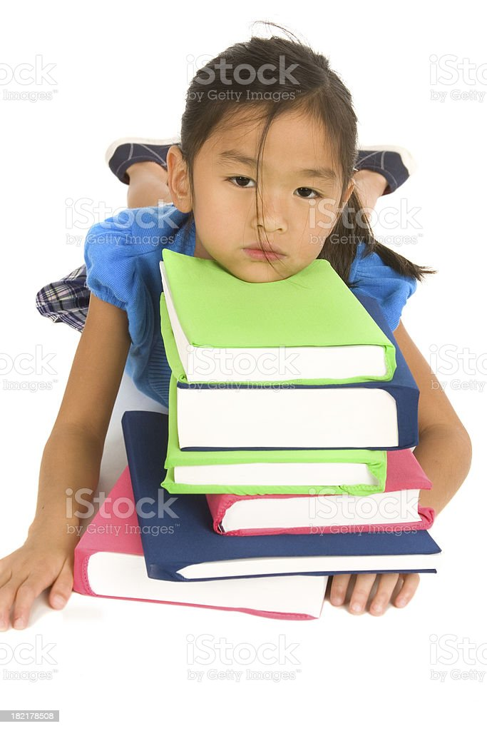 Stressed out from school royalty-free stock photo