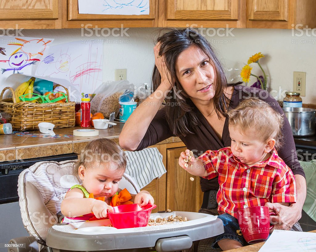 Stressed Out Mother stock photo