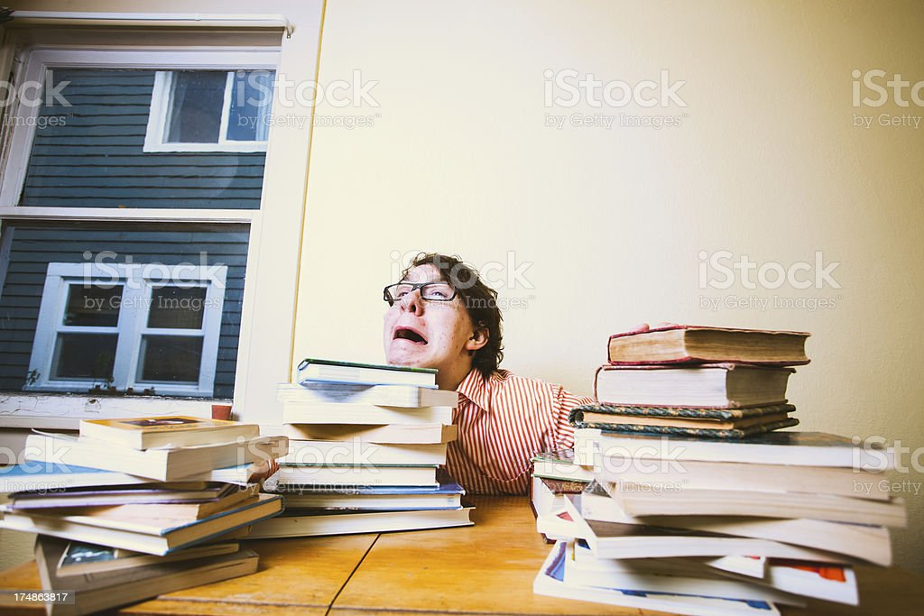 Stressed out Student in School royalty-free stock photo