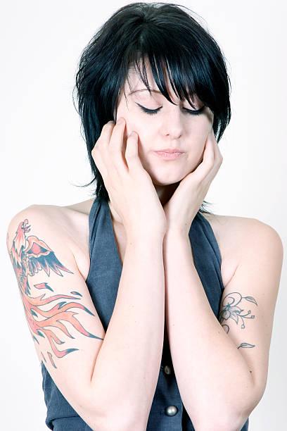 gestresste - vogel phönix tattoos stock-fotos und bilder