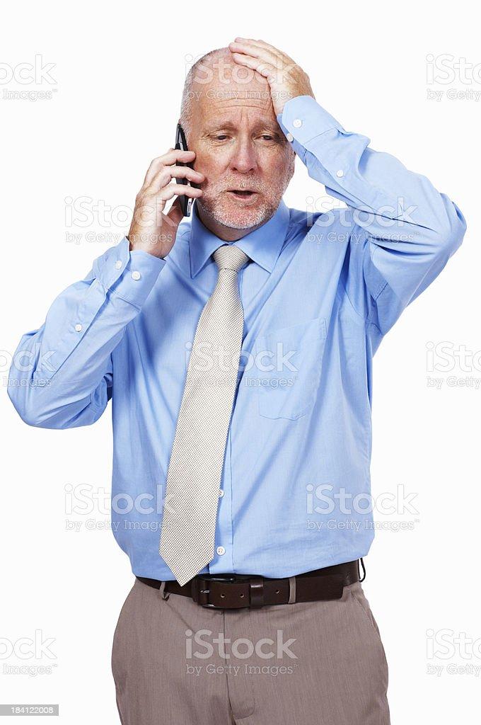 Stressed senior business man royalty-free stock photo