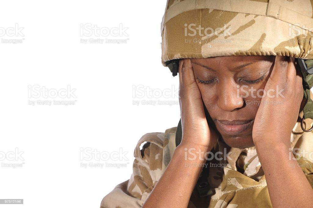 Stressé Soldier photo libre de droits