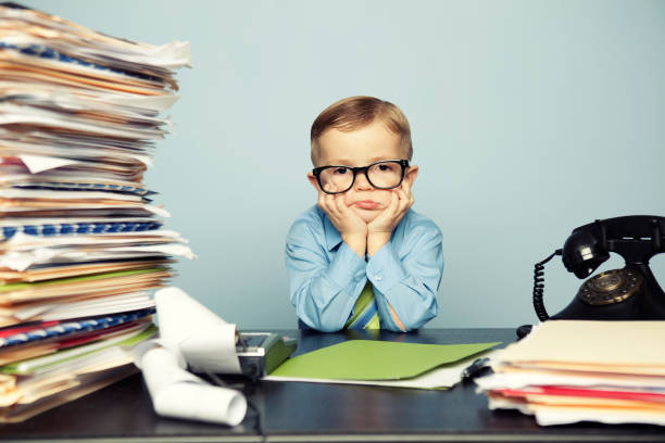 Stressed Tax Kid stock photo